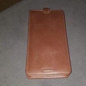 Vintage Coach leather eyeglass case